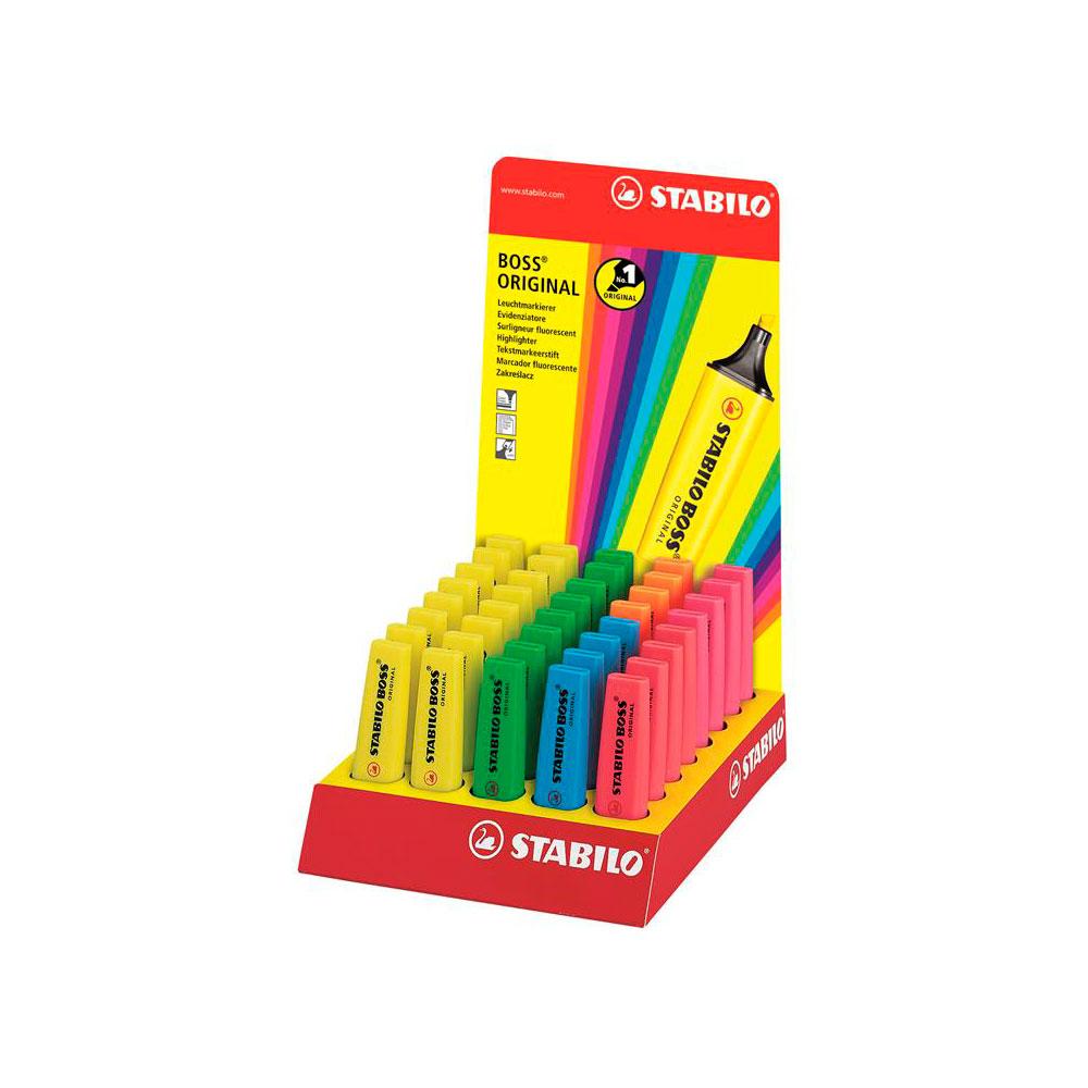 Kit com 6 Unidades de Marca Texto Stabilo Boss Original (Você Escolhe a Cor)
