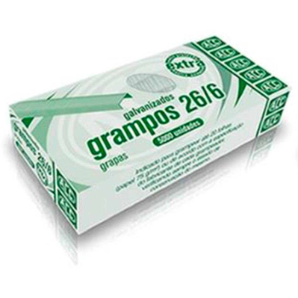 Grampo para Grampeador 26/6 com 5000 Unid. - Galvanizados