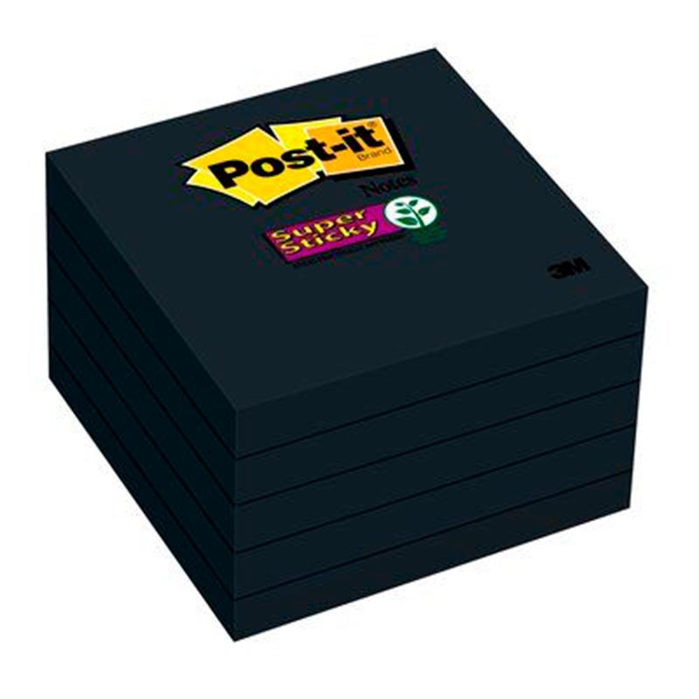 Post-it Preto Pacote com 60 Folhas 76mm x 76mm