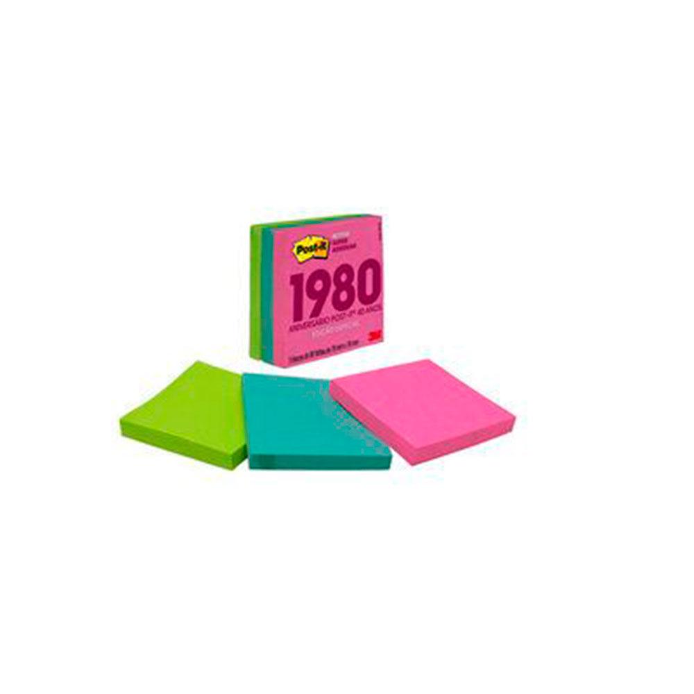Post-it Notas Super Adesivas Coleção Anos 80